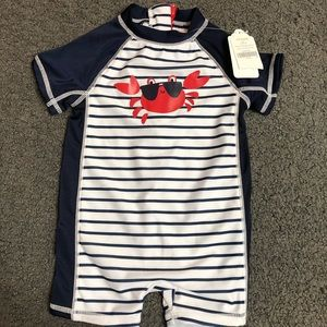 Gymboree Baby Boy Rashguard Crab 3-6M New Striped
